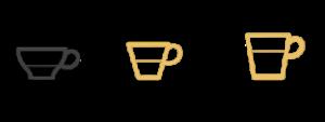 Tasses espresso lungo