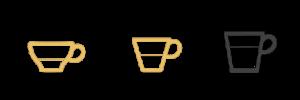 Tasses ristretto espresso